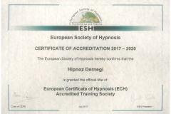 Hipnoz_Dernegi_ESH_Sertifikası